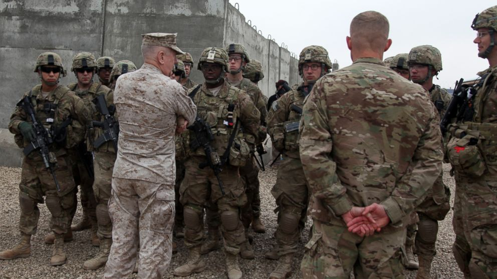 United States Central Command Commander, Gen. James N. Mattis, speaks with paratroopers assigned to Task Force 1 Panther, before they prepare to depart for a mission, Camp Jordania, Afghanistan, Dec. 27, 2011.