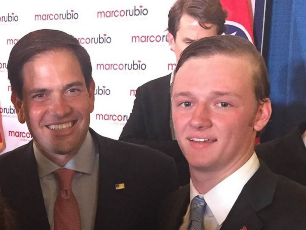 PHOTO: Luke Elliott is seen here with Marco Rubio.