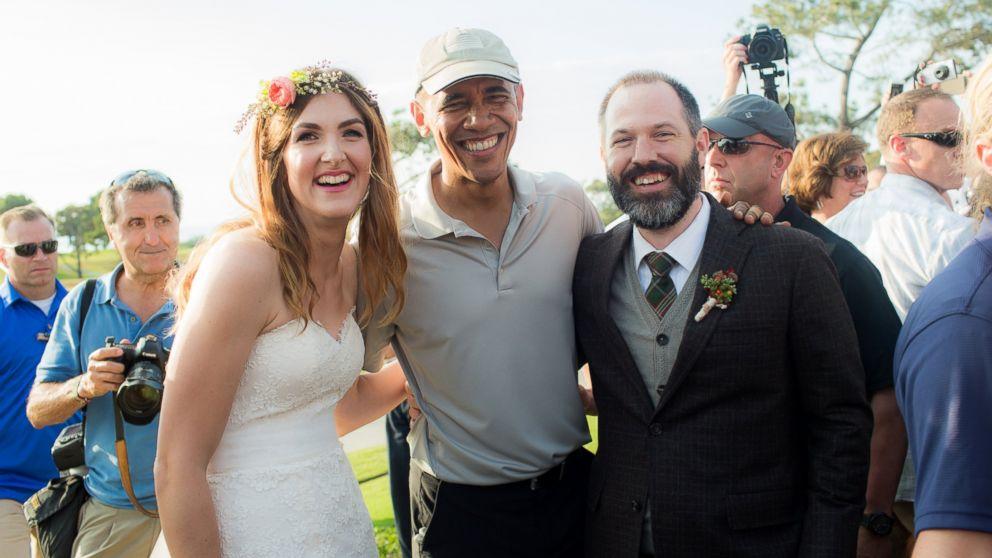 Inside Obama's Wedding-Crasher Moment on San Diego Golf Course