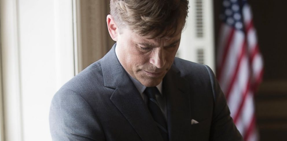"PHOTO: Rob Lowe as President John F. Kennedy on the set of National Geographic Channels ""Killing Kennedy."""