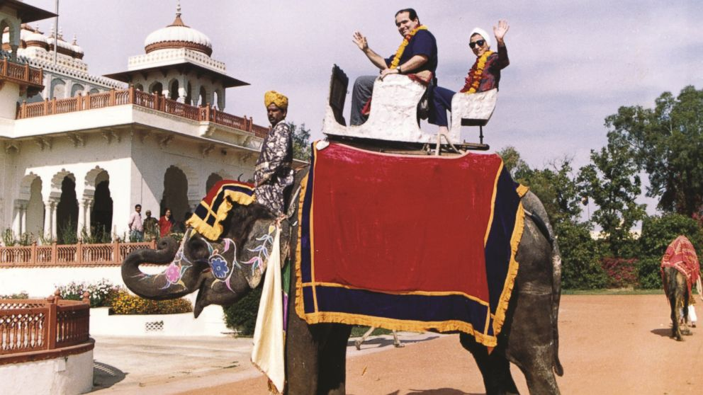 "This image of Justices Antonin Scalia and Ruth Ginsburg riding a elephant in India in 1994 appears in the book, ""Notorious RBG: The Life and Times of Ruth Bader Ginsburg."""
