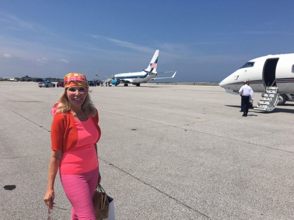 PHOTO: Trumpettes founder Toni Halt Kramer is pictured here with Donald Trumps plane.