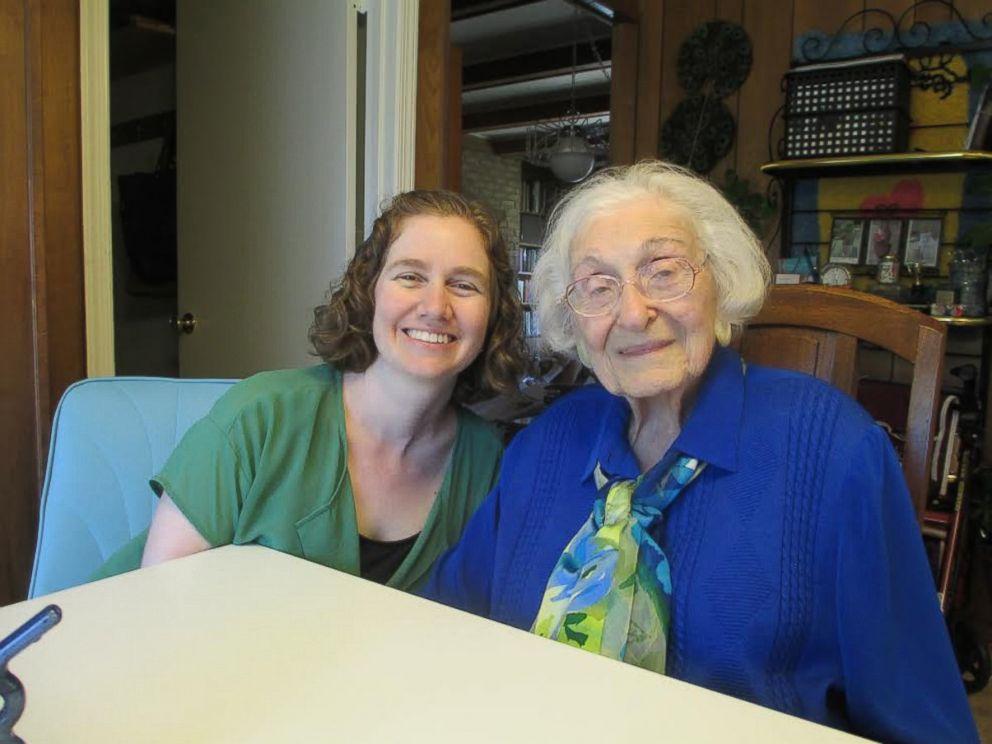 PHOTO: Sarah Bunin Benor is photographed with her grandmother Estelle Liebow Schultz, 98, in 2015.