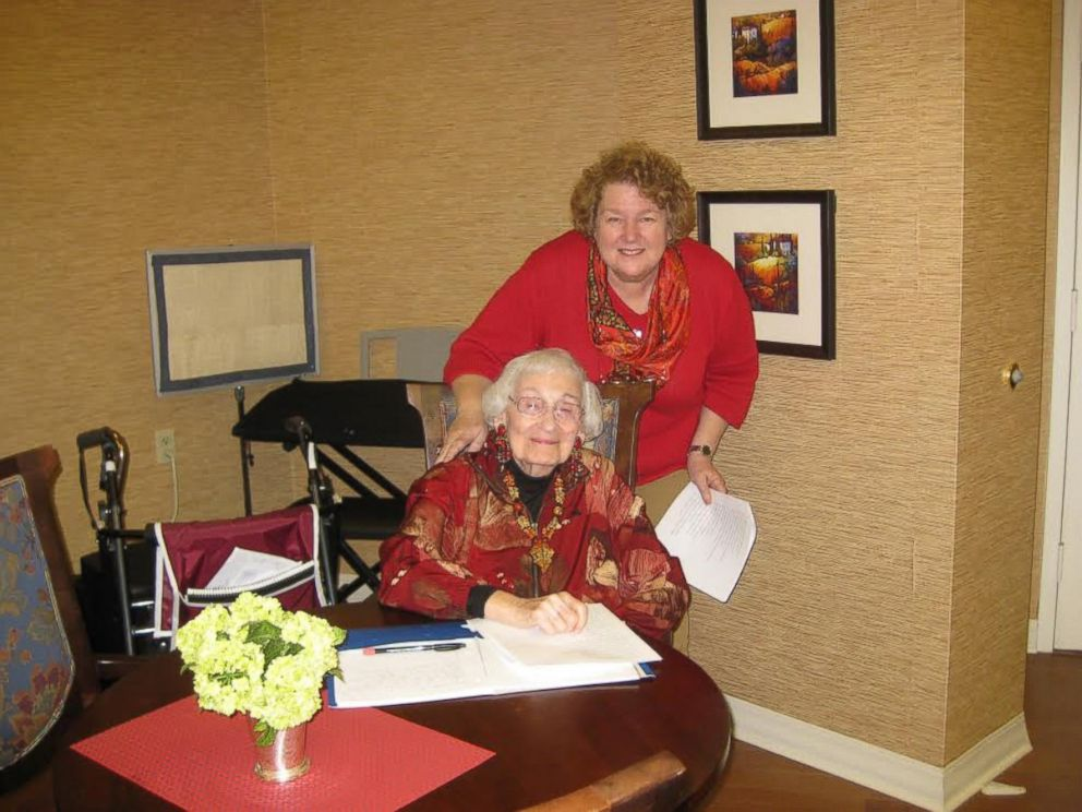 PHOTO: Roberta Benor is photographed with her mother, Estelle Liebow Schultz, 98, in 2012.
