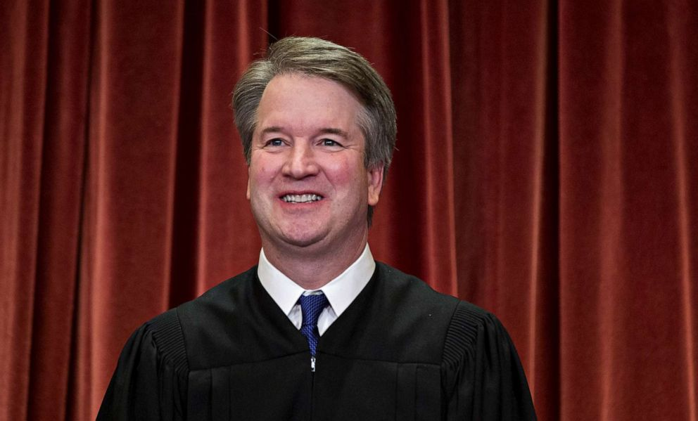 PHOTO:Brett Kavanaugh, associate justice of the U.S. Supreme Court, poses during the formal group photograph in the East Conference Room of the Supreme Court in Washington, D.C., Nov, 30, 2018.