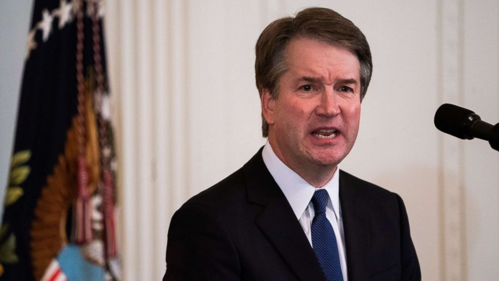 Judge Brett Kavanaugh speaks after President Donald J. Trump announced him his nominee to replace retiring Supreme Court Justice Anthony Kennedy, in Washington, July 9, 2018.