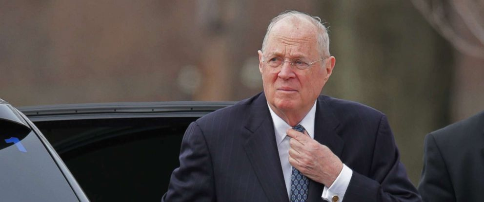 PHOTO: Supreme Court Associate Justice Anthony Kennedy arrives for the funeral of fellow Associate Justice Antonin Scalia at the the Basilica of the National Shrine of the Immaculate Conception, Feb. 20, 2016 in Washington, D.C.