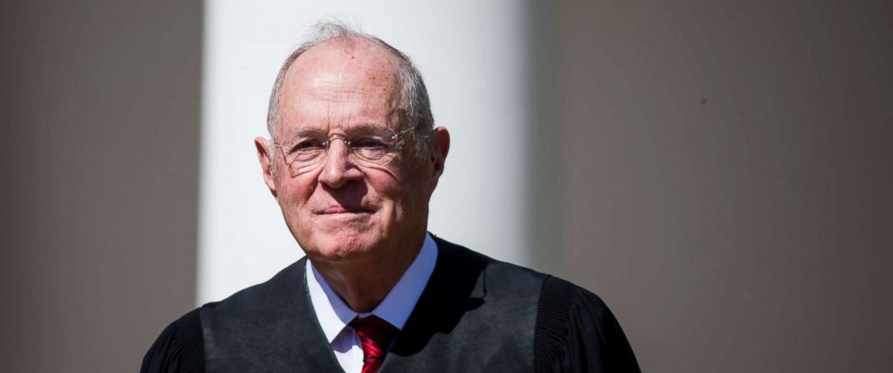 PHOTO: Supreme Court Associate Justice Anthony Kennedy attends a ceremony in the Rose Garden at the White House, April 10, 2017 in Washington, D.C.