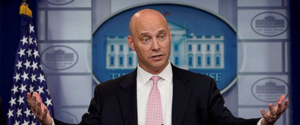 PHOTO: Legislative Affairs Director Marc Short speaks at a news briefing at the White House in Washington, Jan. 20, 2018.