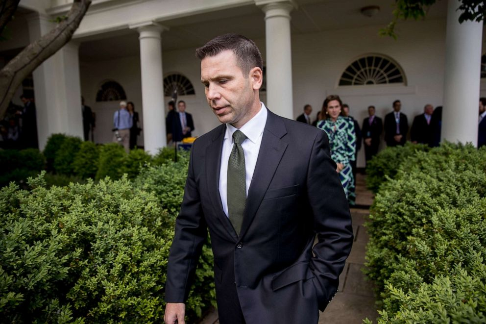 PHOTO: Acting Homeland Security Secretary Kevin McAleenan arrives for an immigration speech by President Donald Trump in the Rose Garden at the White House, May 16, 2019.