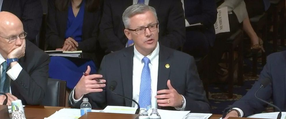 PHOTO: FBI Assistant Director Michael McGarrity testifies about domestic terrorism to the House Homeland Security Committee, May 8, 2019.