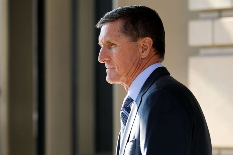 PHOTO: Michael Flynn, former national security advisor to President Donald Trump, leaves following a hearing at the Prettyman Federal Courthouse, Dec. 1, 2017, in Washington, D.C.