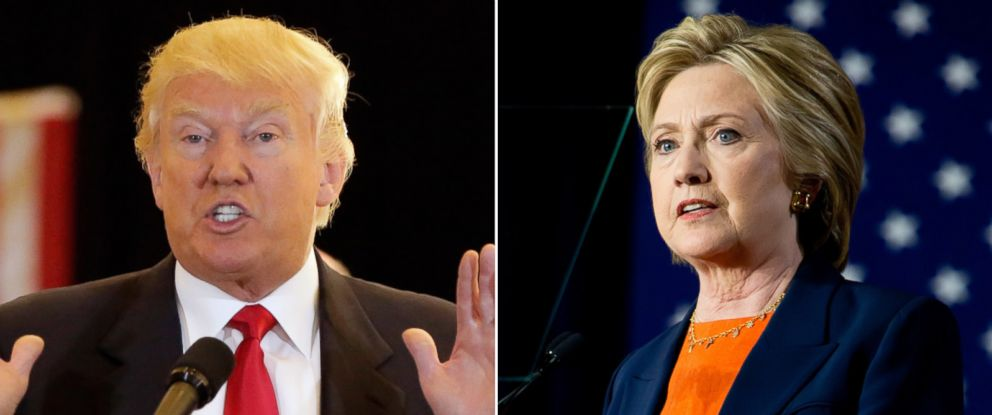 PHOTO: Donald Trump in New York, May 31, 2016; Hillary Clinton in San Diego, California, June 6, 2016.