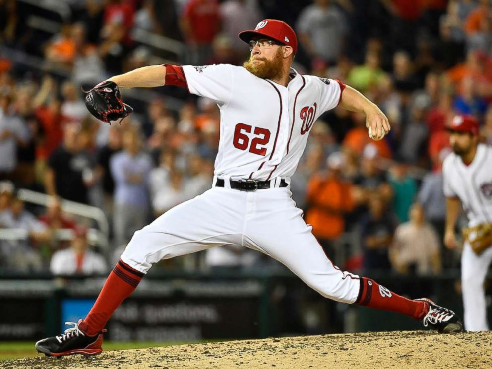 PHOTO: Washington Nationals relief pitcher Sean Doolittle (62) throws against the Baltimore Orioles during the ninth inning at Nationals Park, June 21, 2018.