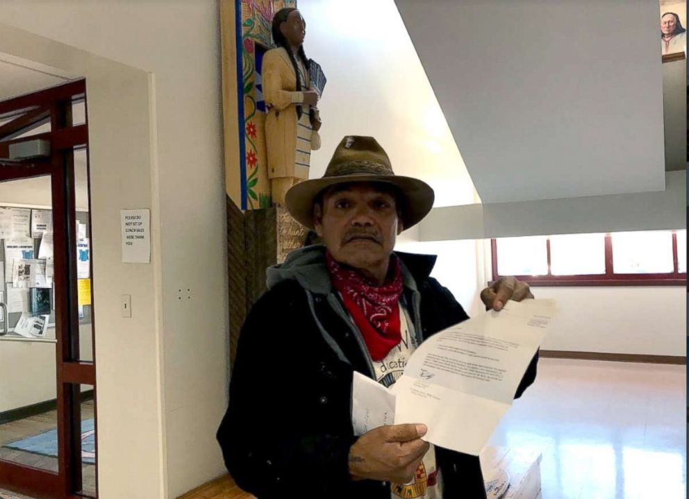 PHOTO: Bill Left Hand, 56, discusses North Dakotas voter ID law at the Standing Rock Indian Reservation tribal headquarters in Fort Yates, N.D.