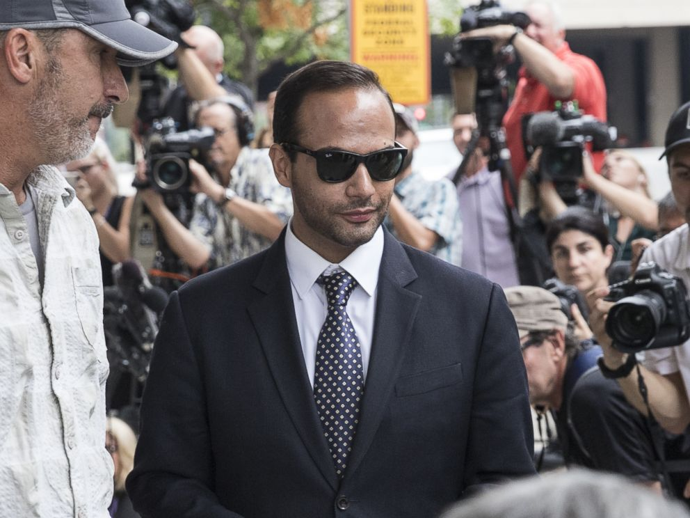 PHOTO: Former Trump Campaign aide George Papadopoulos leaves the U.S. District Court after his sentencing hearing, Sept. 7, 2018, in Washington, D.C.