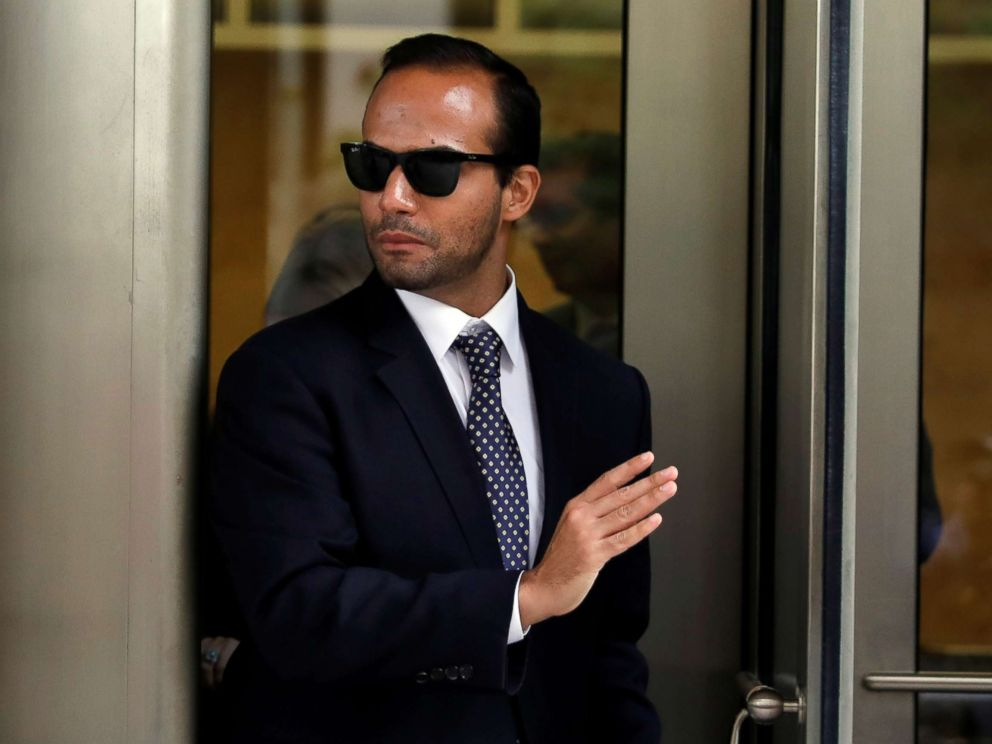 PHOTO: Former Trump campaign aide George Papadopoulos exits U.S. District Court after his sentencing hearing, in Washington D.C., Sept. 7, 2018.