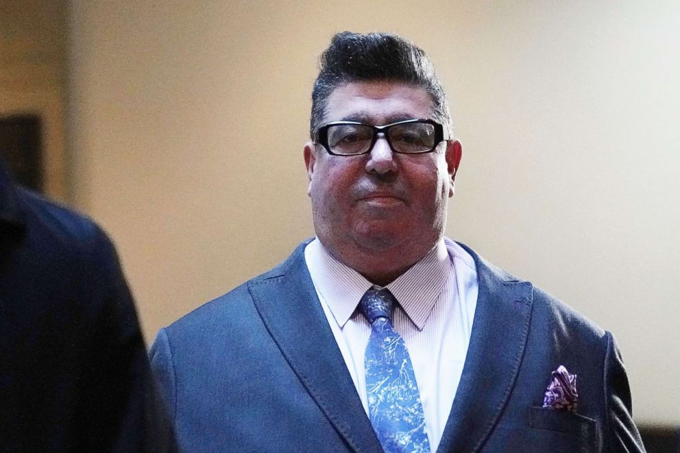 PHOTO: British publicist Rob Goldstone arrives at a closed door meeting with House Intelligence Committee Dec. 18, 2017 in Washington.