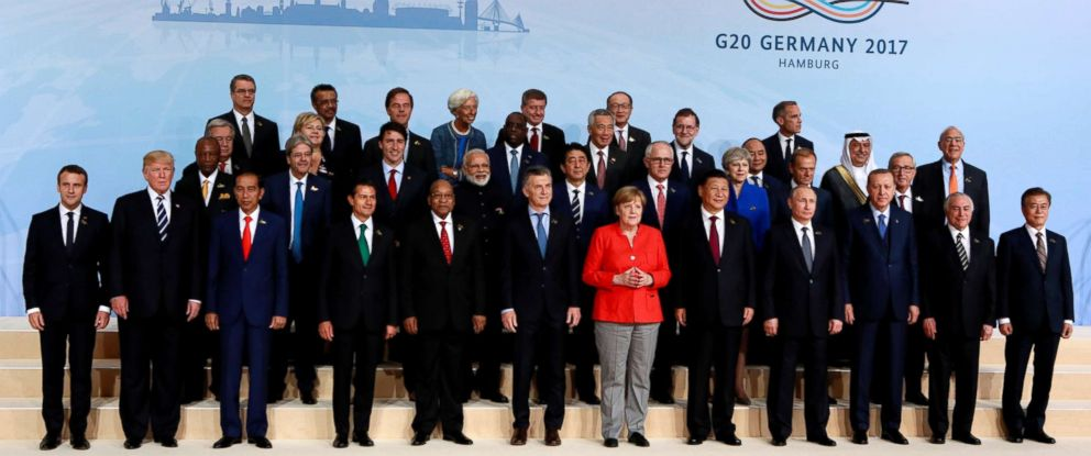 PHOTO: G20 leaders pose for a family photo at the summit in Hamburg, Germany, July 7, 2017.
