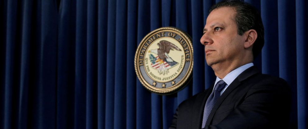 PHOTO: Preet Bharara, U.S. Attorney for the Southern District of New York, attends a news conference in New York City, May 19, 2016.