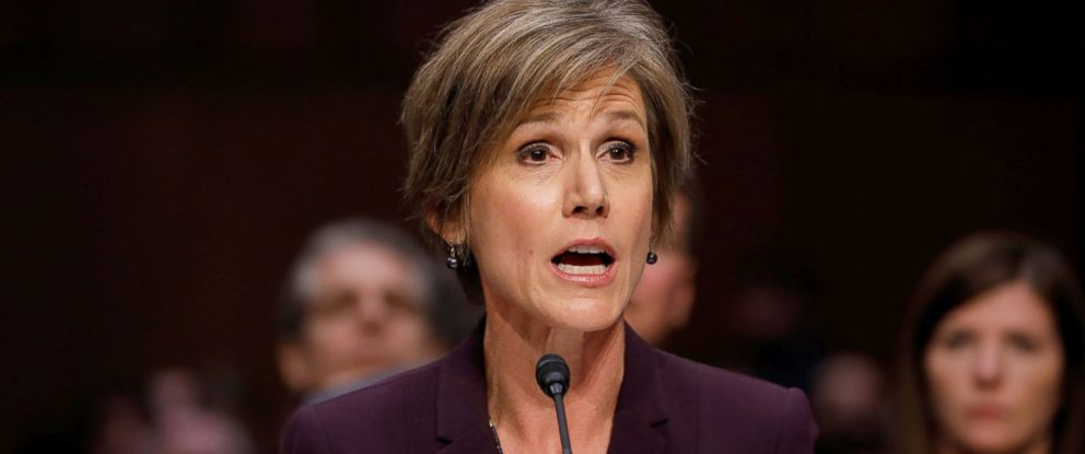 PHOTO: Former Acting Attorney General Sally Yates testifies about potential Russian interference in the presidential election before the Senate Judiciary Committee on Capitol Hill, Washington, May 8, 2017.