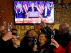 PHOTO: Residents celebrate during the U.S. presidential election in Melania Trumps hometown of Sevnica, Slovenia, Nov. 9, 2016.