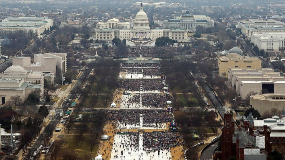 Attendees partake in the inauguration ceremonies to swear in Donald Trump as the 45th president of the United States at the U.S. Capitol in Washington, Jan. 20, 2017. Picture taken at approximately 12PM.