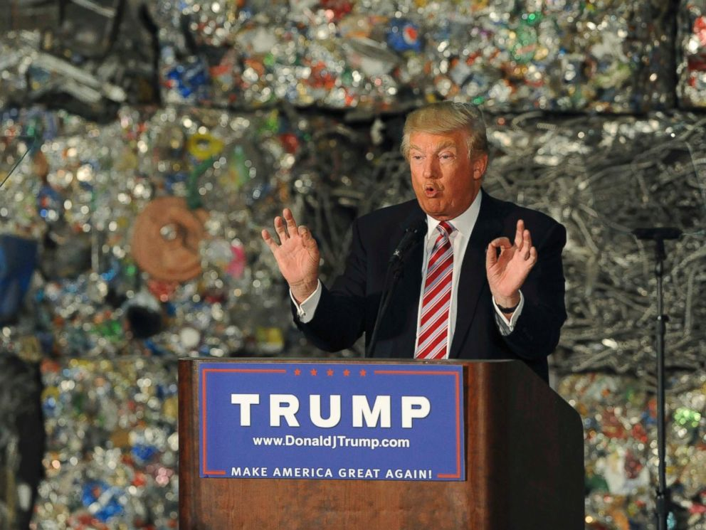 PHOTO: Republican U.S. presidential candidate Donald Trump delivers a speech on his economic policy at the Alumisourse Building in Monessen, Penn., June 28, 2016.