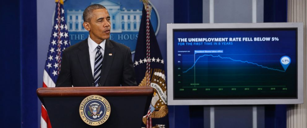 PHOTO: President Barack Obama delivers a statement on the economy following the release of the January jobs report, in the Brady Press Briefing Room at the White House in Washington, Feb. 5, 2016.