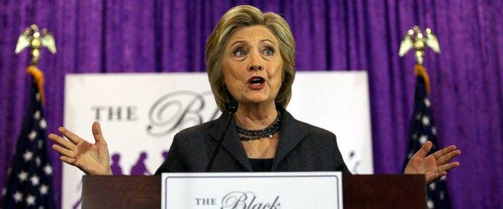 PHOTO: Hillary Clinton speaks at the Black Womens Agenda Annual Symposium in Washington, Sept. 16, 2016.