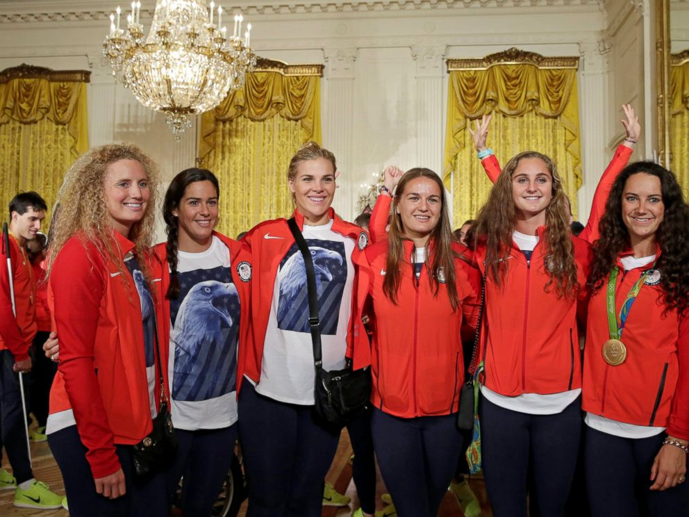 PHOTO: U.S. Olympic and Paralympics teams gather to be greeted by President Barack Obama at the White House in Washington, Sept. 29, 2016.