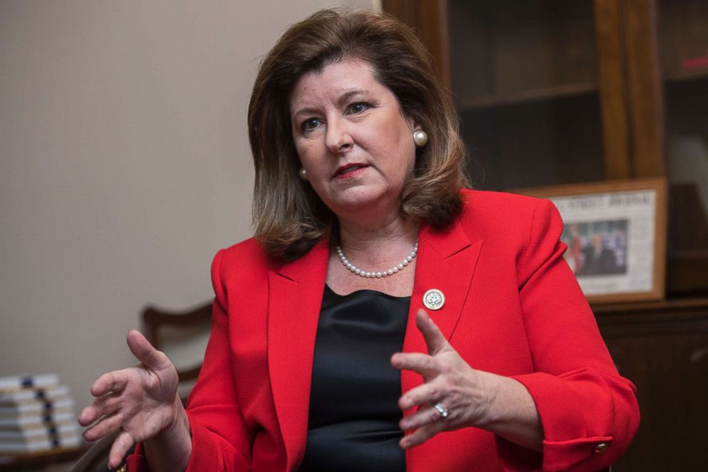 Rep. Karen Handel, R-Ga., is interviewed in her Longworth Building office on Dec. 11, 2017.