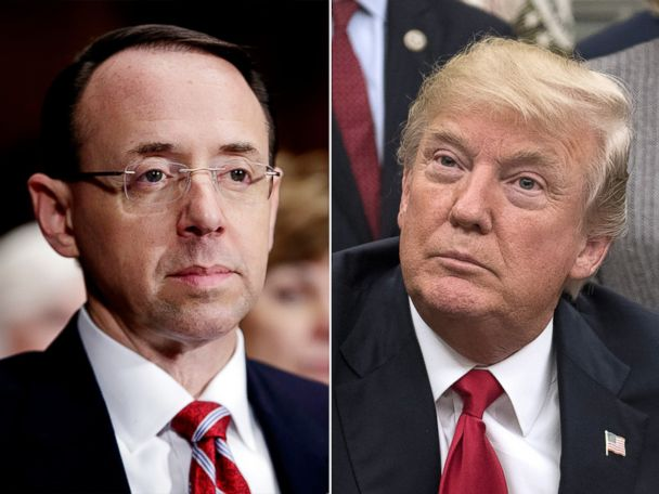 Rosenstein told Trump he's not a target of probe of Michael Cohen: Sources