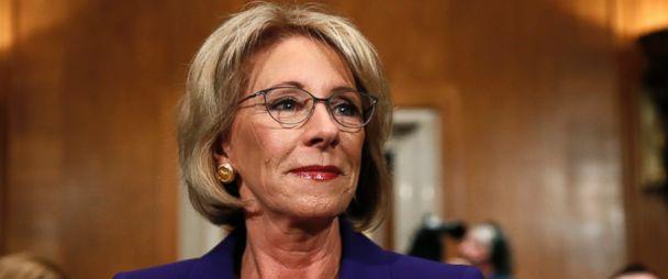 Betsy Devos Trumps Education Pick Plays >> Trump S Education Secretary Pick Betsy Devos Grilled On Public