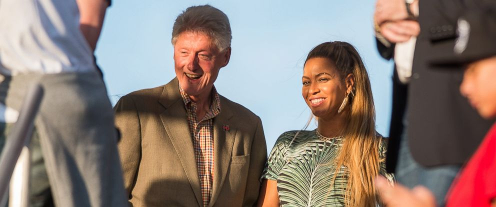 PHOTO: Bill Clinton and Beyonce are seen here at Made in America festival in Philadelphia.