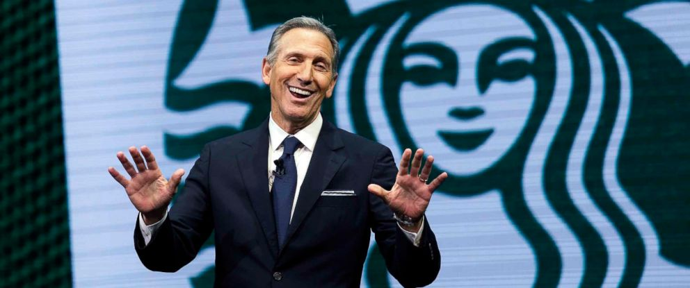 PHOTO: Starbucks CEO Howard Schultz speaks at the Starbucks annual shareholders meeting in Seattle, March 22, 2017.