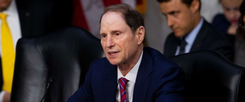 PHOTO: Senator Ron Wyden, D-Ore., asks Acting Director of the Central Intelligence Agency Gina Haspel a question during her confirmation hearing before the Senate Intelligence Committee on Capital Hill in Washington on May 9, 2018.
