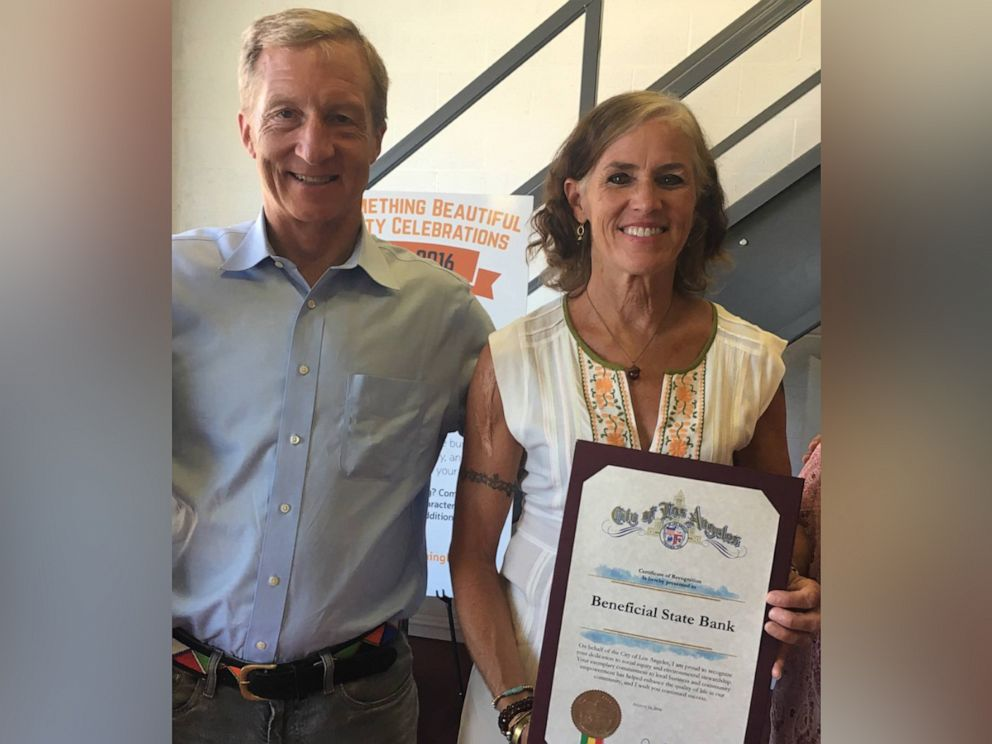 PHOTO: Tom Steyer and his wife, Katherine Kat Taylor, in an undated photo.