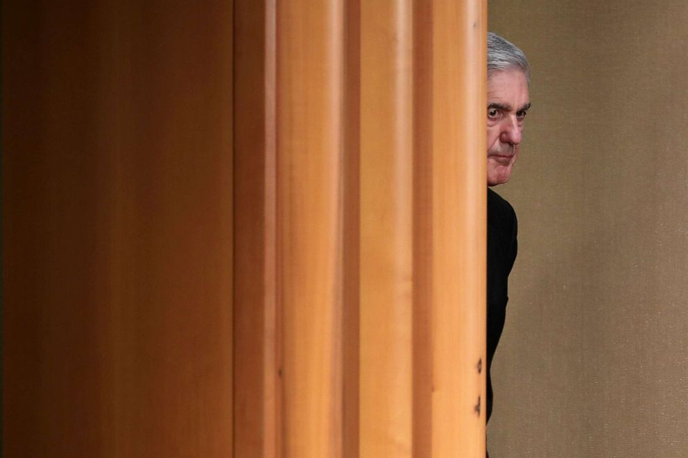 PHOTO: Special counsel Robert Mueller arrives to make a statement about the Russia investigation, May 29, 2019, at the Justice Department in Washington, D.C.
