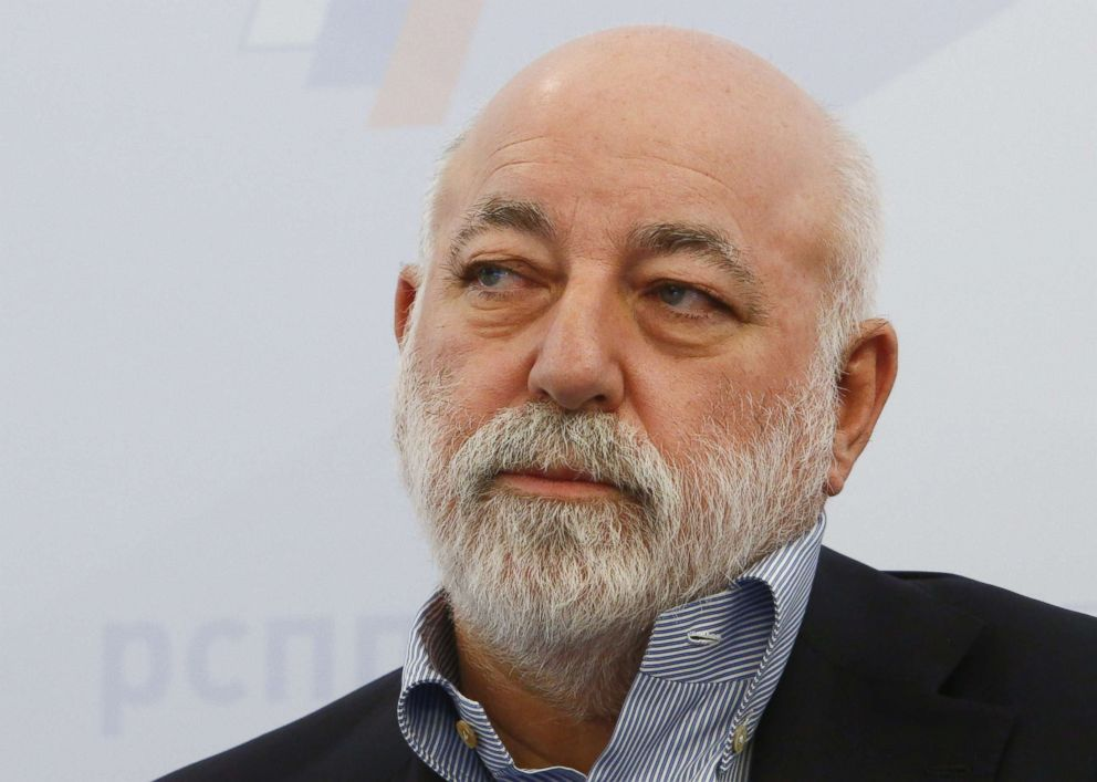 PHOTO: Renova Group Chairman Viktor Vekselberg attends a session during the Week of Russian Business, held by the Russian Union of Industrialists and Entrepreneurs (RSPP), in Moscow, Feb. 7, 2018.