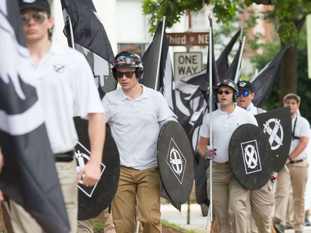 PHOTO: Neo-Nazis, white supremacists and other alt-right factions scuffled with counter-demonstrators near Emancipation Park (Formerly Lee Park) in downtown Charlottesville, Virginia.