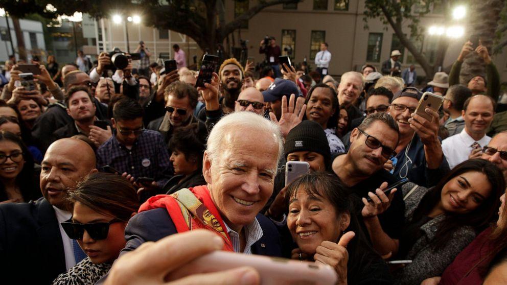 Sanders stars with Biden, Warren absent at California forum
