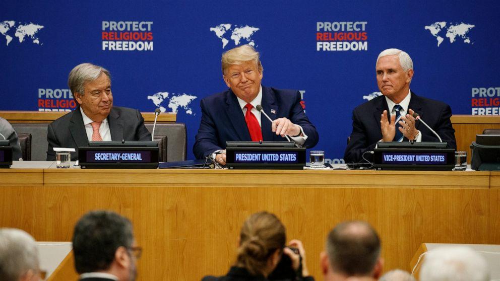 Trump verurteilt religiöse Verfolgung inmitten Flüchtlings-squeeze