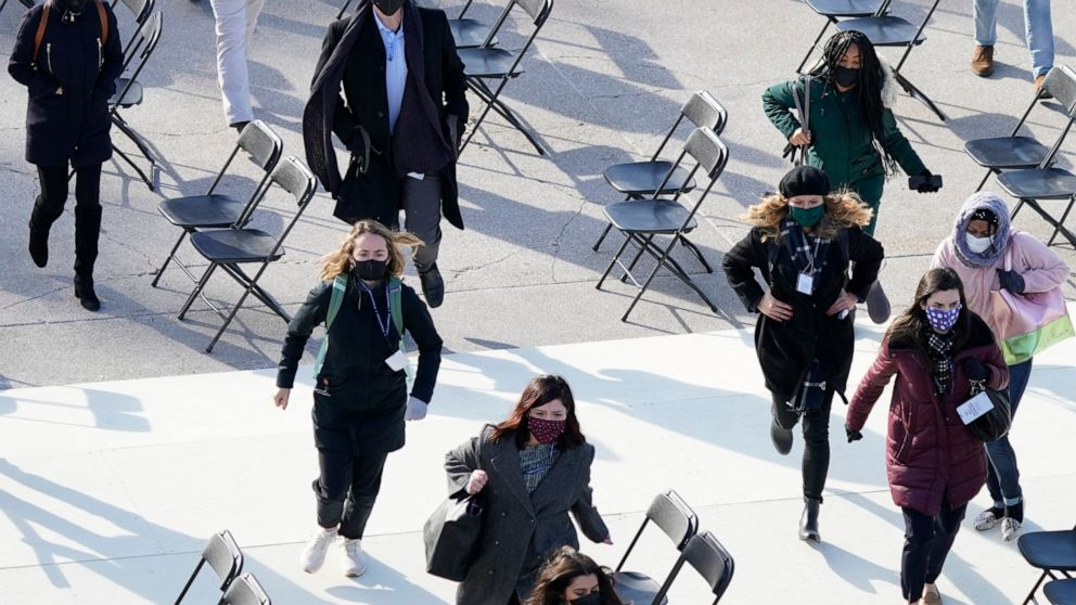 Inauguration rehearsal evacuated after fire in homeless ...