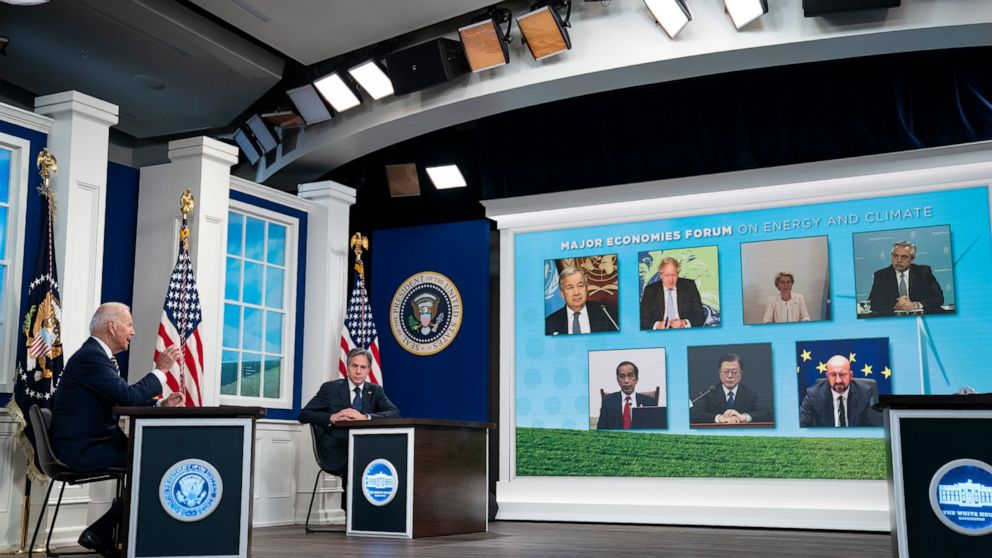 Biden, world leaders push climate action, vow methane cuts