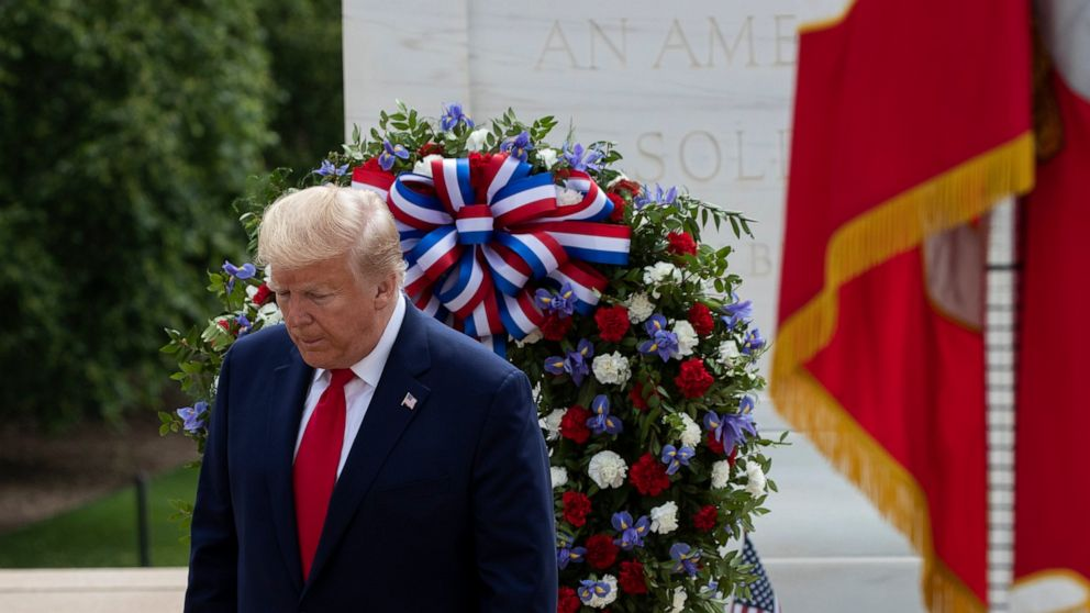 Trump doubles up with Maryland, Virginia Memorial Day events thumbnail