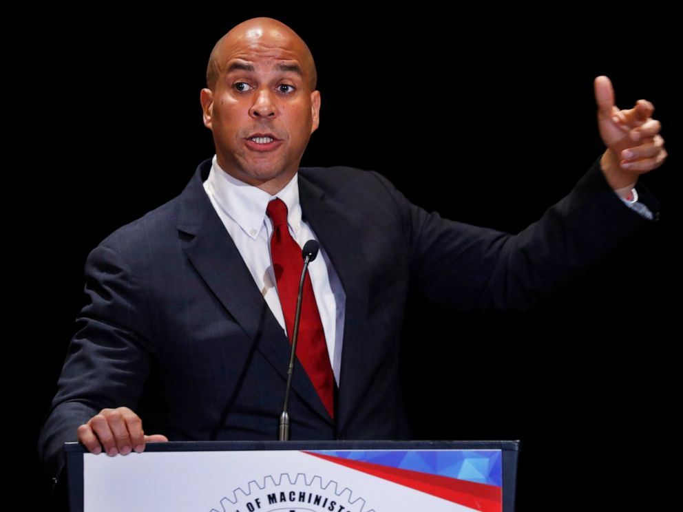 Democratic presidential candidate Sen. Cory Booker, D-N.J., speaks during the Machinists Union Legislative Conference, Tuesday May 7, 2019, in Washington.