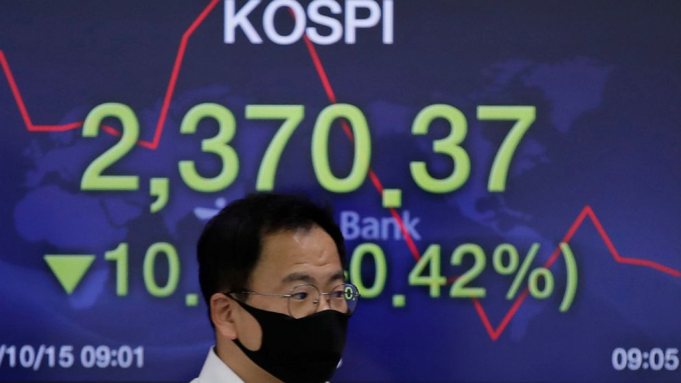 Stocks fall on Wall Street as coronavirus spreads in Europe