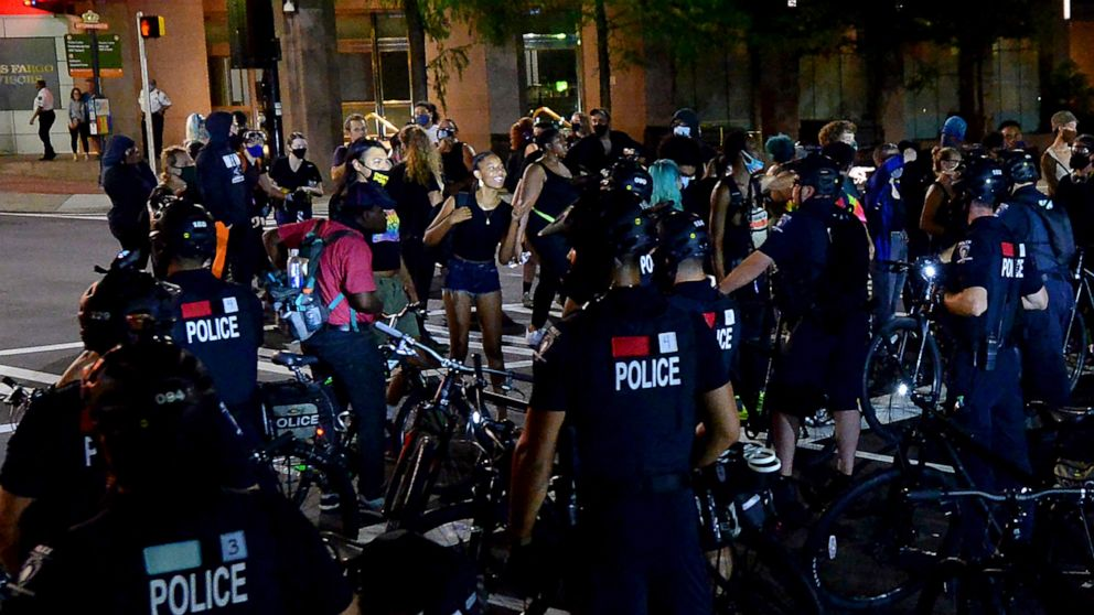 Police, protesters clash night before RNC opens in Charlotte thumbnail