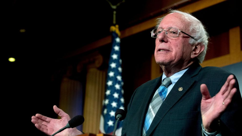 FILE - In this Jan. 30, 2019, file photo, Sen. Bernie Sanders, I-Vt., speaks at a news conference on Capitol Hill in Washington. Sanders will return to Brooklyn, the borough where he was born, to launch a presidential campaign that's expected to connect his working-class childhood to his populist political views that have reshaped the Democratic Party. (AP Photo/Andrew Harnik, File)